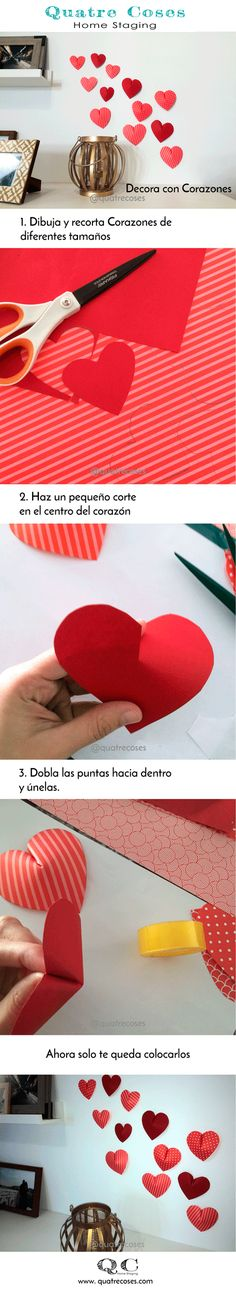 Quatre coses Home Staging Home Staging, Paper Hearts, Simple, Paper Envelopes, Hipster Stuff, Manualidades, Staging
