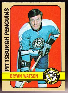 PITTSBURGH PENGUINS 1972-73 TOPPS BRYAN WATSON EX+NM COND FREE SHIPPING #PhiladelphiaFlyers