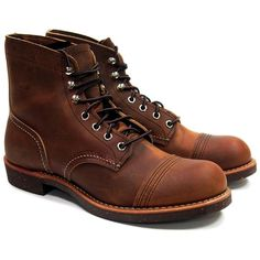 STYLE NO. 8085 : IRON RANGER The rugged 6-inch 8085 Iron Ranger features premium Copper Rough & Tough leather, chrome hardware, speed hooks, Goodyear welt construction, triple stitched quality, plus a
