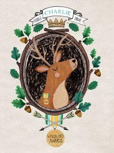 Woodland Awards - Wise Stag by Rebecca Jones