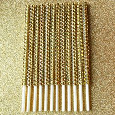 Gold Bling Cake Pop Sticks Candy Bar Supply Dessert Buffet Sticks Gold Bling Lollipops Sticks
