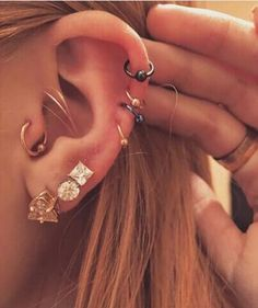 30 Ear Piercing Ideas to Try This Winter 2017 for Tragus, Helix, Cartilage, Rook, Daith at MyBodiArt