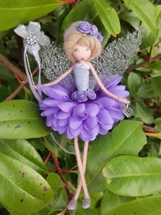 Image of Lila-Grace Christmas Fairy, Christmas Angels, Christmas Crafts, Christmas Ornaments, Fairy Crafts, Doll Crafts, Diy Doll, Yarn Dolls, Fabric Dolls