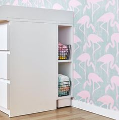 KraftKids storage rack for changing table white suitable for MALM chest of drawers Kids Storage, Storage Rack, Locker Storage, Ikea Malm Dresser, Dresser Top, Changing Dresser, Changing Room, Baby Room Design, Mdf Wood