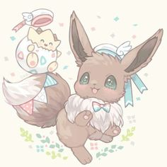 Eevee and togepi kawaii pastel fan art! These are some of my favorite pokemon, they're always so cute! Cute Animal Drawings, Kawaii Drawings, Cute Drawings, 150 Pokemon, Pokemon Fan Art, Pokemon Eevee Evolutions, Best Anime Shows, Cute Pokemon Wallpaper, Pokemon Pictures