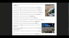 SHOCKING LIST OF MASS DIE-OFF'S ALL OVER THE WORLD