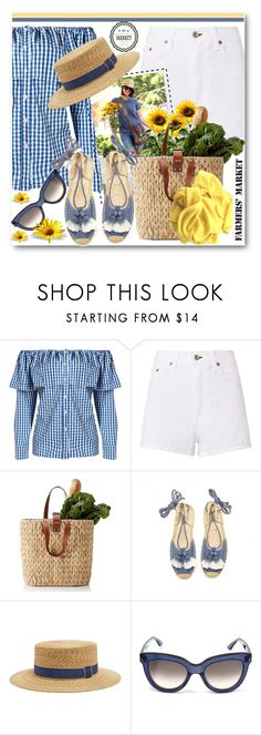 """""""Farmers' Market"""" by brendariley-1 ❤ liked on Polyvore featuring rag & bone, Soludos, Filù Hats, Valentino and farmersmarket"""