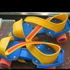 """Fisher Price roller skates - just like the ones that I got for my son when he was really little. """"Thanks, Fisher Price. Back In The 90s, Back In My Day, Brinquedos Fisher Price, Toy History, British History, Jouets Fisher Price, Fisher Price Toys, 90s Toys, Oldschool"""