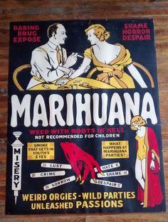$27+ Vintage Marihuana Marijuana Pot Weed Propaganda 1936 Movie Poster original?
