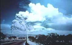 Mt. Pinatubo, Philippines - 1991   Volcano World. The height of the ash cloud was about 12 miles. Mt. Pinatubo produced the greatest volume of SO2 ever measured. The gas reached the stratosphere and circled the globe in three weeks.