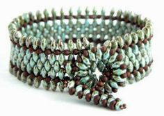 Free Pdf for Spice Bracelet from The Beadsmith Blog. #Seed #Bead #Tutorials