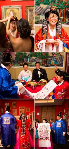 Korean wedding ceremony. I  hope to have this at my wedding one day!