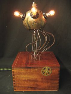 $235 (OR DIY:) Diabolical Box 86 Tendrils Mad Scientist Steampunk Victorian Science Fiction