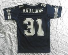 903df289e ReeBok Jersey Official NFL Vintage Dallas Cowboys Roy Williams 31 Youth  SIze EUC  Reebok