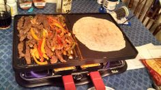 Fajitas!! ~ Create memorable meals or parties with the Velata Raclette Tabletop Grill. Borrowing a centuries-old Swiss tradition, the Velata Raclette is an easy-to-use appliance that allows you to cook delicious meals at the table. https://barbaravolkema.velata.us