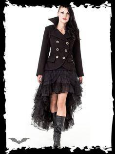 4f6fa79020fe Dámsky extravagantný kabát Queen Of Darkness JA1-260 12