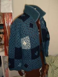 Granny Square Jacket with Diagram - I just love these colours!!! One never has enough granny jackets...