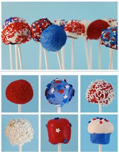thecakebar: Fourth of July Cake Pops II...