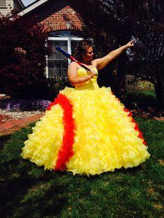 Softball prom dress