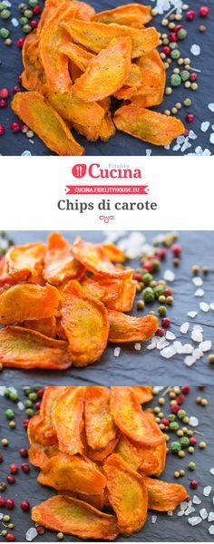 Chips di carote Vegetarian Recipes, Cooking Recipes, Healthy Recipes, Salty Foods, Fast Food, Antipasto, Food Humor, Light Recipes, Creative Food