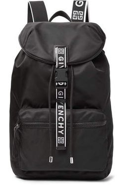 23def3cc63 Givenchy Leather-Trimmed Nylon Backpack