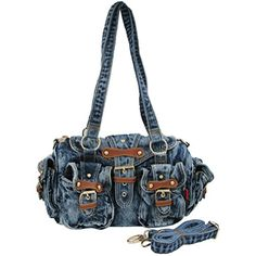 Donalworld Women Lace Floral Jeans Denim Zipper Handbags Lcblack >>> Be sure to check out this awesome product.