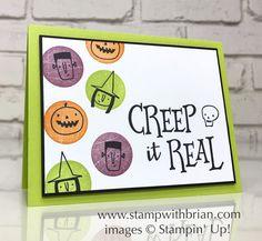 Creep it Real, Stampin' Up!, Brian King, HalloweenWood Words card