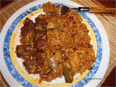 Ternera con arroz y alcachofas (Olla New Chef)