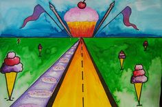 4th grade surrealism perspective landscape