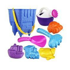 amazon.com: Great worth $12.50 only Joyzenith 8 Piece Big Size Pretend Play Beach Toys a Cast...