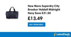New Mens Superdry City Breaker Holdall Midnight Navy Save £31.50, £13.49 at ebay