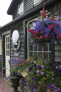 Sconset Cafe in Siasconset, Nantucket, Massachusetts. Siasconset is at the eastern end of Nantucket island. Photo: Rolf and Cindy Nelson Nantucket Style, Nantucket Island, Coastal Style, Nantucket Beach, Nantucket Cottage, Nantucket Wedding, Seaside, Bright Flowers, Spring Flowers