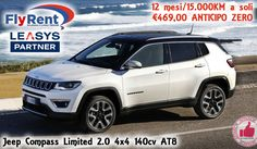 Flyrent Noleggio | Jeep Compass Limited 2.0 4x4 140cv AT8 http://affariok.blogspot.it/
