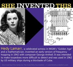 Hedy Lamarr is famous as a glamorous movie star from the black-and-white era of film. But what most people don't know about her is that, in 1942, she co-invented a device that helped make possible the development of GPS, Bluetooth, and Wi-Fi technology!