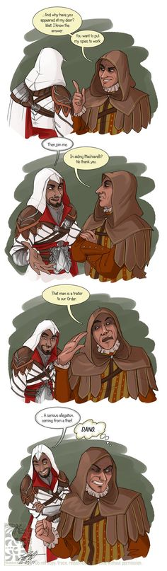 Ezio being bae wherever he goes