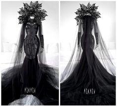 #gown #mesh #dark #goth #demon #blackdress #occult #askasu #harness #dramatic #fairy #gown #hell #lilith #alternative #lace #siren