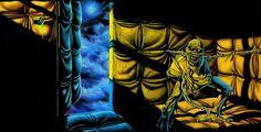 Derek Riggs original cover art For Piece Of Mind