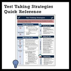 Test Taking Strategies and Preparation Quick Reference for Middle School Annotating Text, Ela Anchor Charts, Citing Evidence, Test Taking Strategies, Middle School English, Time Management, Language, Positivity, Student