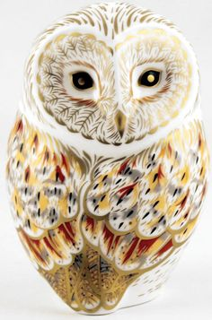 """Royal Crown Derby 2014 """"Winter Owl"""" Paperweight"""