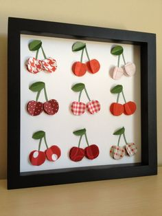 Red Cherry 3D Paper art by PaperLine on Etsy, $35.00