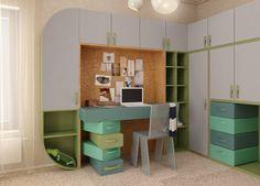 Concept Architecture, Kids Furniture, Girls Bedroom, Corner Desk, Interior Design, Children, Home Decor, Furniture For Kids, Corner Table