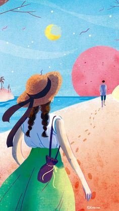 #, Couple Illustration, Plant Illustration, Bff Drawings, Art Background, Watercolor Landscape, Anime Art Girl, Aesthetic Art, Cute Wallpapers, Manga Anime