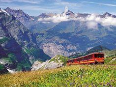 Jungfrau Railway through Kleine Scheidegg