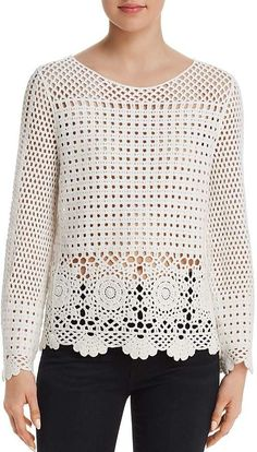 Aqua Sheer Crochet Top – Exclusive The Effective Pictures We Offer You About crochet stitches A quality picture can tell you many things. Black Crochet Dress, Crochet Jacket, Crochet Cardigan, Crochet Shawl, Crochet Stitches, Crochet Patterns, Mode Crochet, Crochet Baby, Crochet Top