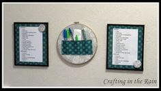 Embroidery Hoop Organizer | Crafting in the Rain