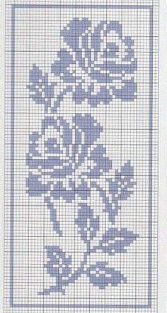 Cross Stitch Bookmarks, Cross Stitch Borders, Cross Stitch Rose, Cross Stitch Flowers, Cross Stitch Designs, Cross Stitching, Cross Stitch Embroidery, Embroidery Patterns, Cross Stitch Patterns