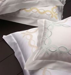 Crown yourself in laurel leaves like a Greek goddess with our Diana embroidered pillowcases
