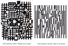 Image result for victor vasarely black and white