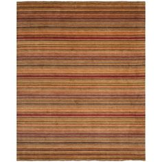 Safavieh Hand-knotted Tibetan Striped Red Wool Rug (9' x 12')