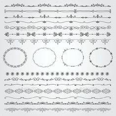 Buy Hand Drawn Borders and Frames by helga_helga on GraphicRiver. Collection of Seamless Hand Drawn Doodle Vintage Borders and Frames. Vector Illustration with Pattern Brashes Bullet Journal Frames, Bullet Journal Ideas Pages, Boarder Designs, Page Borders Design, Border Tattoo, Boarders And Frames, Doodle Boarders, Draw Dividers, Drawing Borders